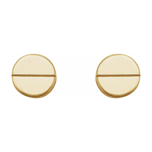 Stuller Geometric 14k Gold Earrings
