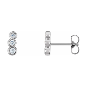 14K Gold 0.07 CTW Diamond Petite Ear Climbers
