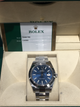 Rolex Oyster Perpetual Datejust II 41mm Stainless Steel Blue Stick Dial 116300