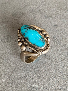 Bell Trading/Fred Harvey Era Sterling Turquoise Ring