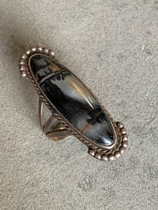 Vintage Petrified Wood Sterling Ring
