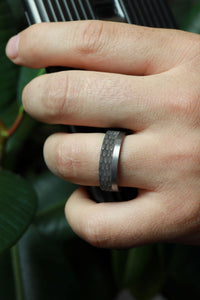 Benchmark Men's Wedding Band Tantalum Dragon Scale