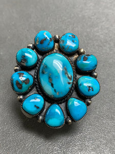 Hemerson Brown Navajo Sterling Silver Turquoise Ring