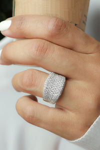 2 1/2 ctw Concave Pave Diamond Ring