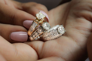 3.91 ctw GIA Certified Diamond Wedding Set