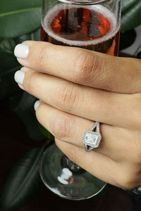 1.81 ctw GIA Certified Emerald Cut Diamond Engagement Ring