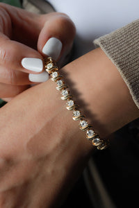 6.5 ctw Diamond Tennis Bracelet 14k Yellow Gold