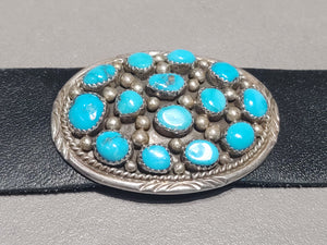 38 inch Rough Turquoise Belt