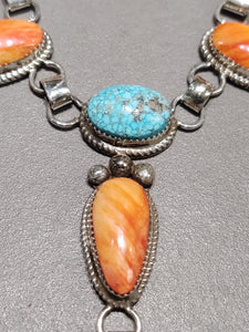 Ray Nez Turquoise Spiny Oyster Necklace