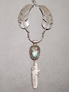 "Feather Turquoise Necklace ""Billy"""
