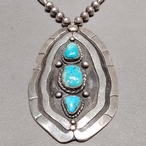 Large Pendant Turquoise Necklace