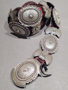 G. Begay Navajo Sterling Silver Concho Belt - Handmade Native American