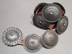 Sterling Silver  Concho Belt - Handmade Native American