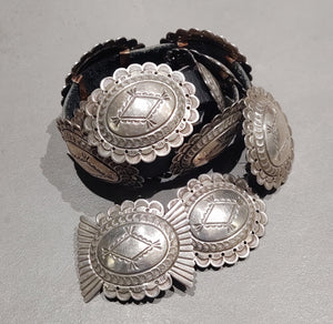 Sterling Silver Navajo Concho Belt - Handmade Native American