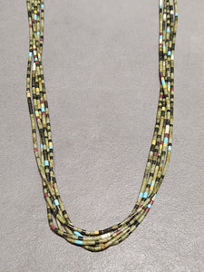 Traditional Wrap Heishi Turquoise 5 Strand Necklace - Handmade Native American