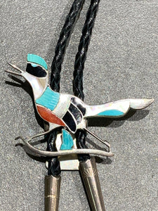 EDWARD BEYUKA INLAY STERLING SILVER BOLO