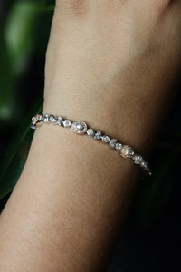 2.24 ctw Diamond Bracelet in White & Rose Gold