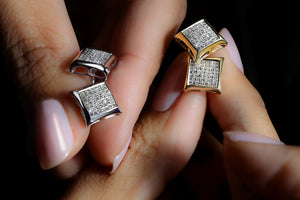 3/4 ctw Princess Cut Diamond Stud Earrings