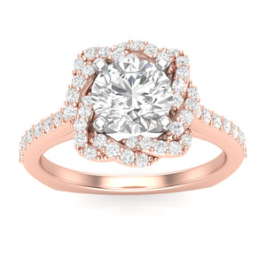 Diamond Engagement Ring Luminar L7973-E 1.67 ctw