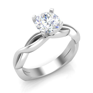 Diamond Solitaire Engagement Ring Luminar LS8249 1.00 ctw