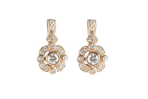 LeVian 0.41 ctw Vintage-Style Strawberry Gold Earrings
