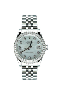 Pre-Owned Rolex Ladies Diamond DateJust Stainless Steel 178384