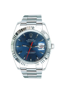 "Pre-Owned Rolex ""Thunderbird"" 116264 Turnograph Stainless Timepiece with 18k bezel 116264"