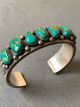 Ernest Roy Begay Navajo Turquoise Sterling Silver Cuff