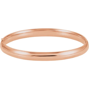 14k Gold Hinged Bangle