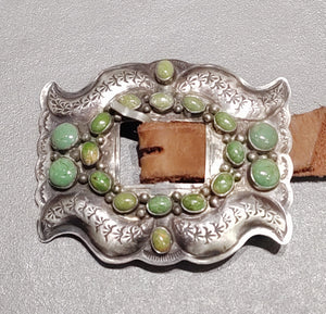 Green Turquoise Concho Belt
