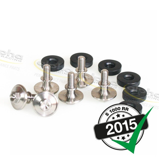 alpha Racing Cam Cover Ti Bolt Kit BMW S1000RR (2010-, 2015)