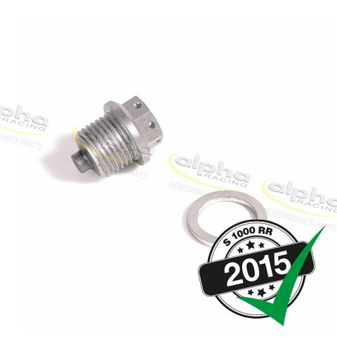 alpha Racing Magnetic Oil Drain Plug BMW S1000RR (2010-, 2015-)