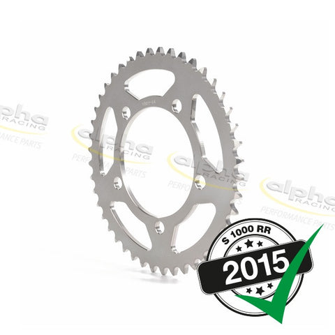 alpha Racing Sprocket Alum. Silver T39 520 BMW S1000RR OEM Wheel (2010-, 2015-)