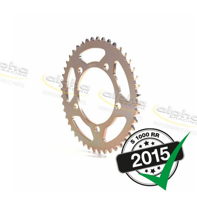 alpha Racing Sprocket Alum. Gold T42 520 BMW S1000RR Orig. Wheel (2010-, 2015-)
