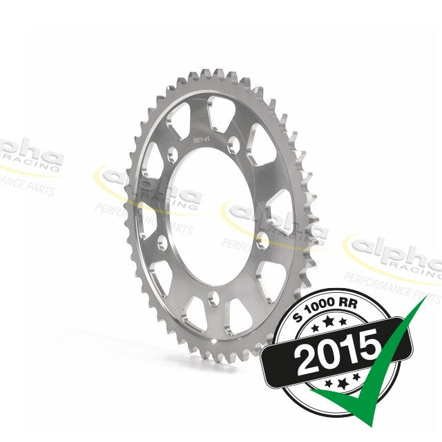 alpha Racing Sprocket Alum. Silver T43 525 BMW S1000RR Racing Wheel (2010-, 2015-)