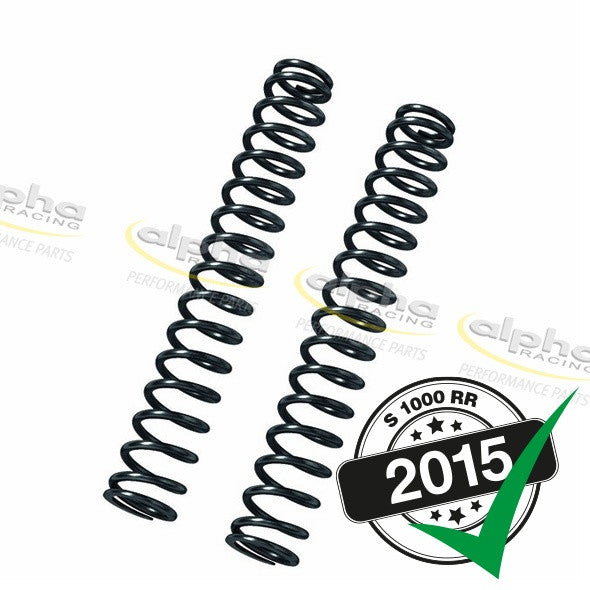 alpha Racing DDC Fork Springs (10.5 N/mm) BMW S1000RR/HP4 (2012-, 2015-)