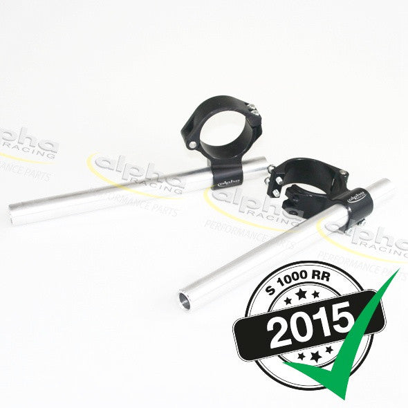 alpha Racing 7° Fast Mount Clip-on Set BMW S1000 RR/HP4 (2010-, 2015-) OEM Forks 55mm