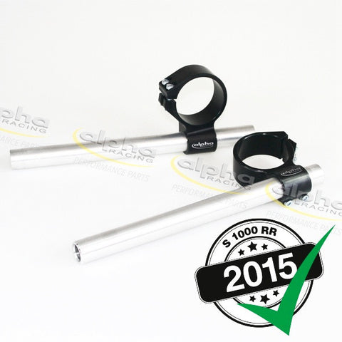 alpha Racing 7° Fixed Clip-on Set BMW S1000 RR (2010-, 2015-) OEM Forks 55mm