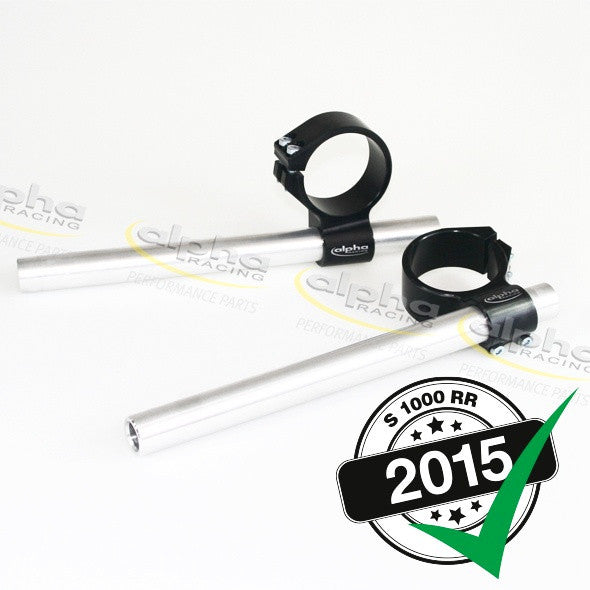 alpha Racing 7° Fixed Clip-on Set BMW S1000 RR/HP4 (2010-, 2015-) OEM Forks 55mm