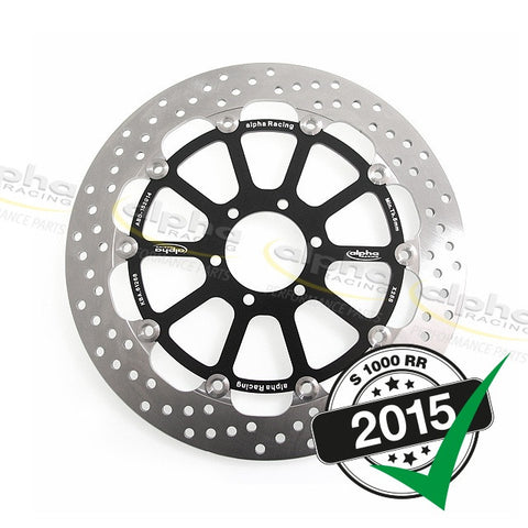 alpha Racing Front Brake Disc 320 x 5.5mm EVO, Left BMW S1000RR Racing Wheel (2010-, 2015-)