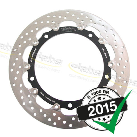 alpha Racing Front Brake Disc 320 x 5.5mm EVO Right, BMW S1000RR (2010-, 2015-)