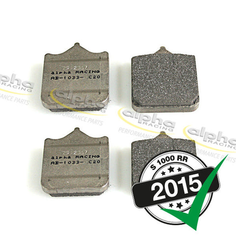 alpha Racing Front Brake Pad Set Duo Sinter BMW S1000RR (2010-, 2015-)