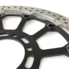 alpha Racing LEFT Front Brake Disc 320 x 6 EVO, T-floated, HP4 Race Part Number: 3411A300T02-01