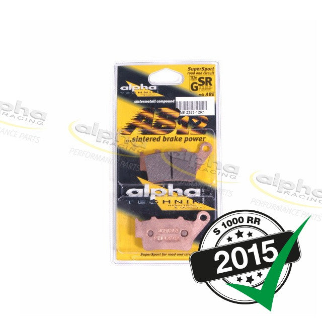 alpha racing Rear Brake Pad Set Sinter BMW S1000 RR (2010-, 2015-)