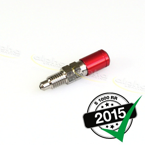 alpha Racing Red Bleeding Valve M8 x 1.25, 16mm BMW S1000 RR (2010-, 2015-)