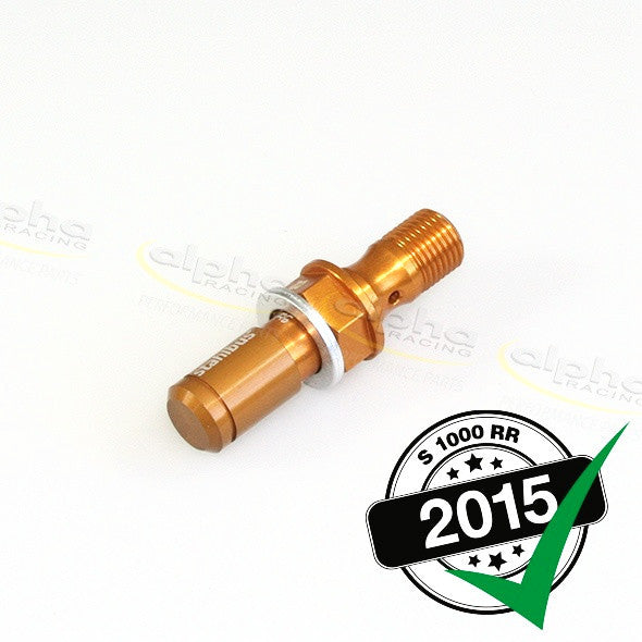 alpha Racing Gold Bleeding Valve M10x1x19mm BMW S1000 RR