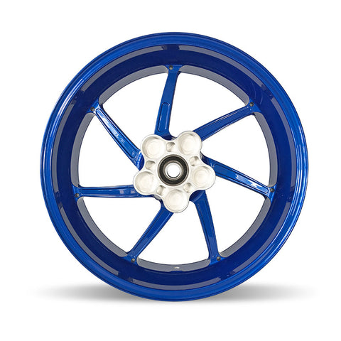 "BMW S1000 RR Genuine HP4 Rear Wheel 6.0 x 17"" Blue (2010-2018) Part Number: 36318551660-01"
