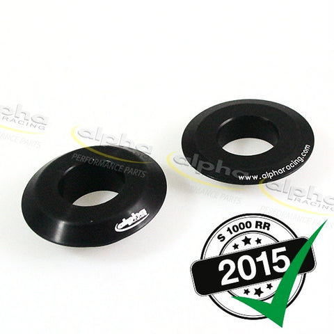alpha Racing Billet Rear Wheel Spacers BMW OEM S1000RR (2012-, 2015-)