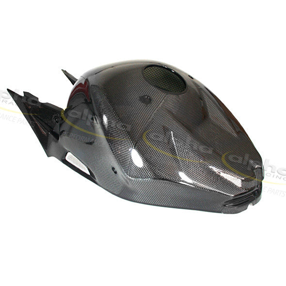alpha Racing Carbon Complete Fuel Tank Cover BMW S1000RR (2010-2014)  Part Number: 4663A203B08-01