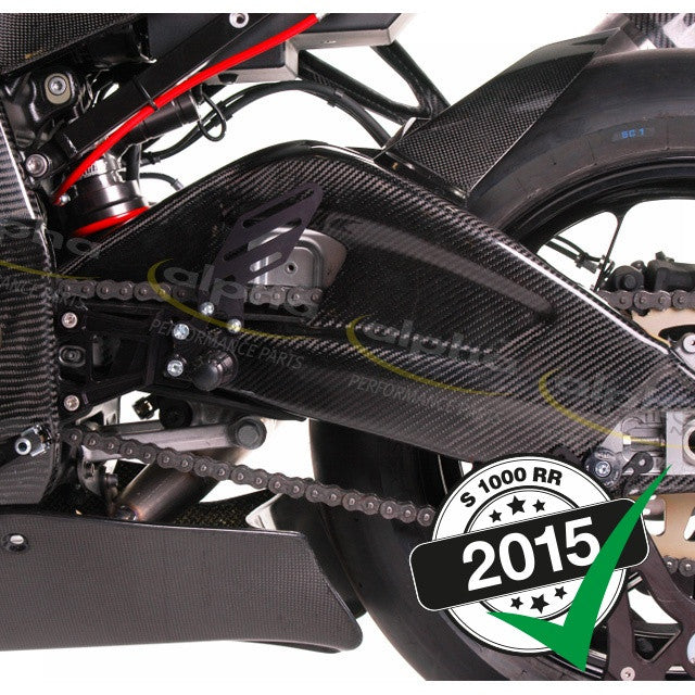 alpha Racing Carbon Swingarm Protection Kit BMW S1000 RR/HP4 (2010-, 2015-)